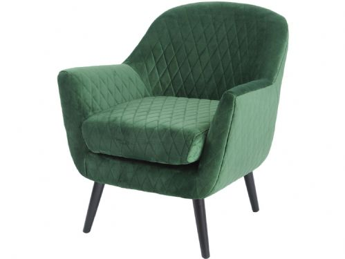 Ellison Green Velvet Quilted Occasional Chair